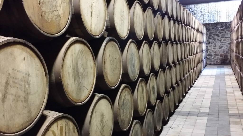 The Traditionanl and old fashioned Tequila making at La Altena where Villa Lobos sits in American oak Barrels