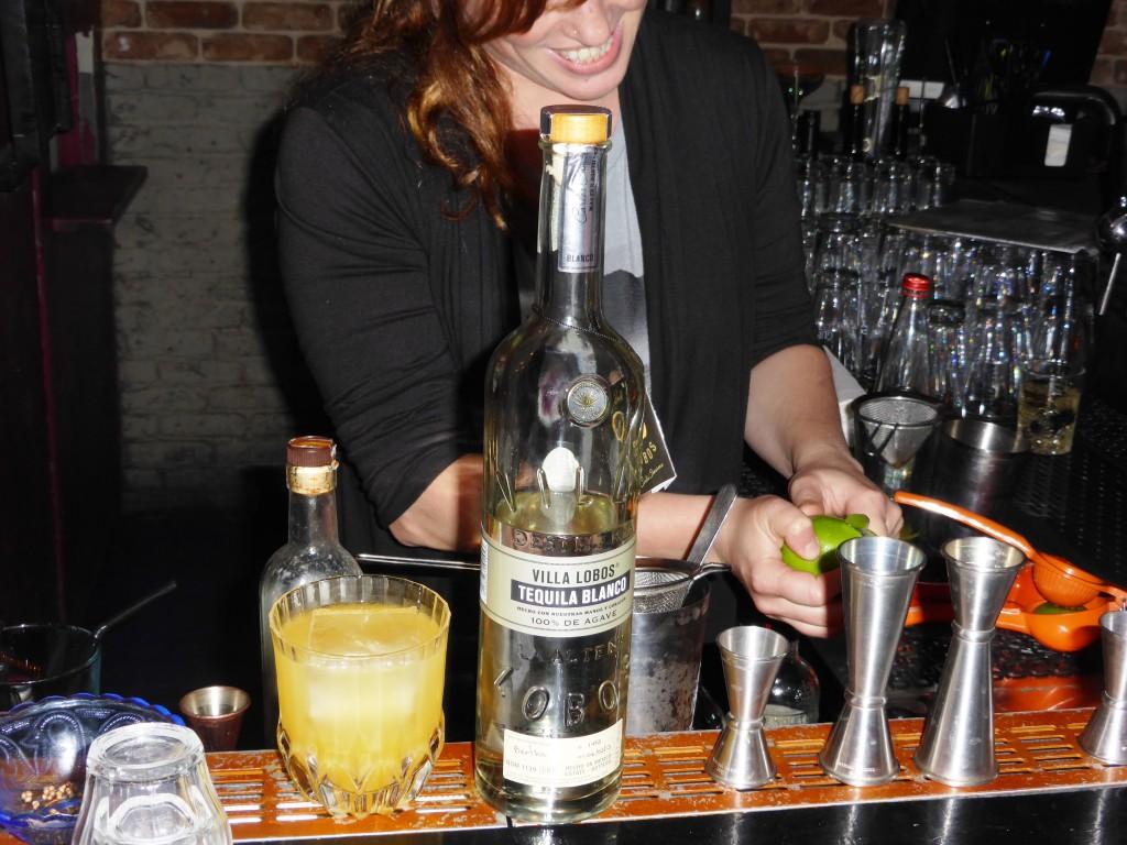 Head Bartender making Dale a Villa Lobos Cocktail
