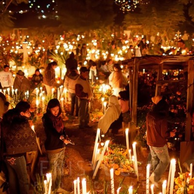 Day of the Dead celebrations in grave yards around Mexico