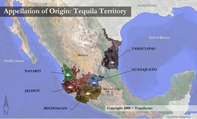 The CRT only permits 5 states in Mexico to produce Tequila from the Blue Agave, (Michoacan, Guanajuato Nayarit, Jalisco & Tamaulipas