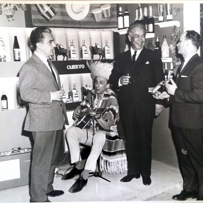 Stan Sklar with Mexican Ambassador Antonio Armendariz at a trade fair in April, 1964