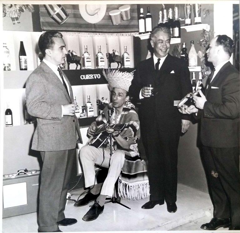Stan Sklar with Mexican Ambassador Antonio Armendariz at a trade fair in April, 1964